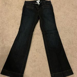 Trouser style flare jeans